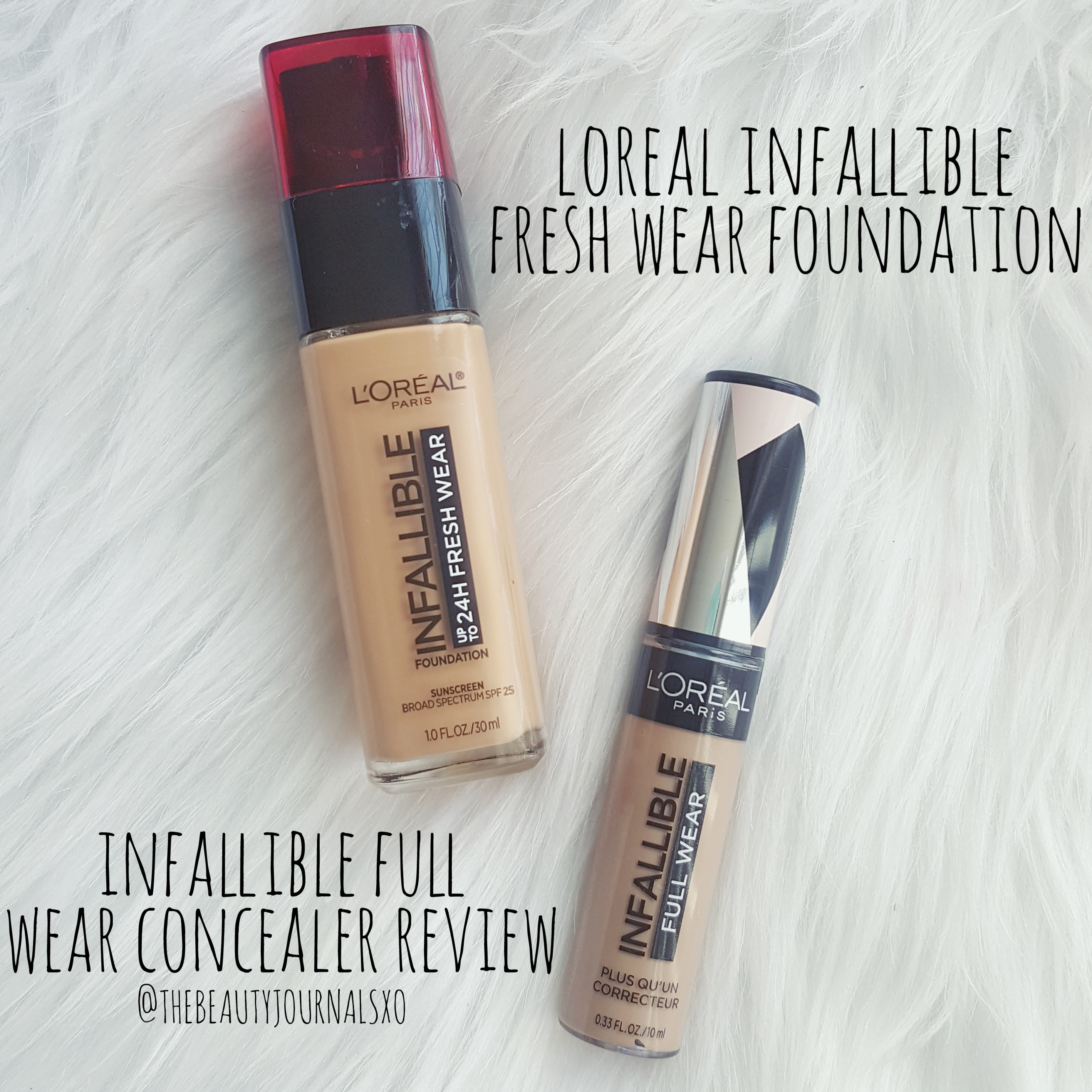 L Oreal Infallible 24hr Fresh Wear Foundation And Infallible Full Wear Concealer Review The Beauty Journals